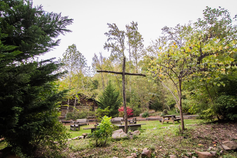Wooden Cross Spiritually Focused