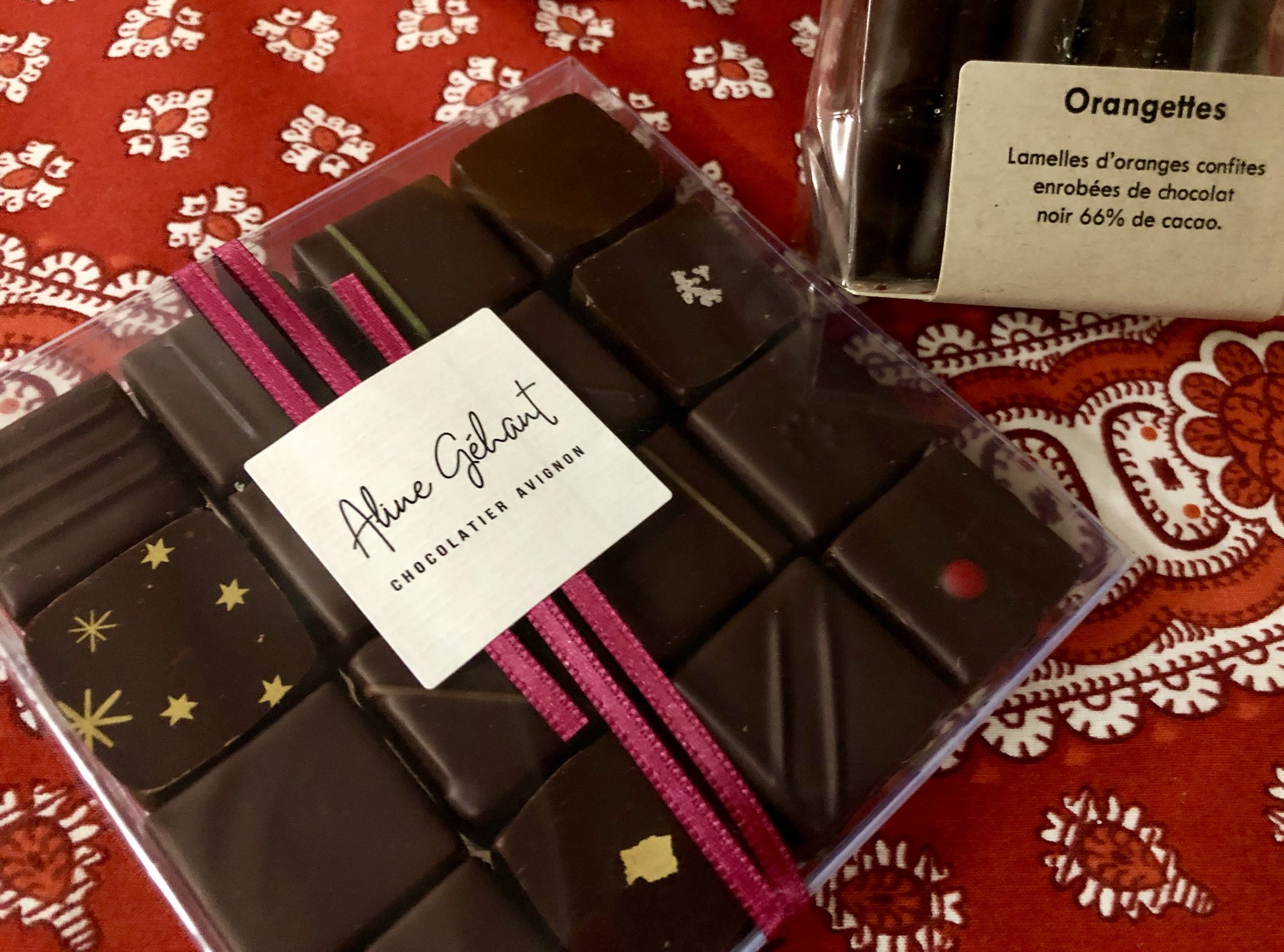 A selection of gânache-filled chocolates from Avignon chocolatier  Aline Géhant .