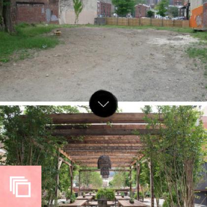 Before & After: South Street Philadelphia Pop-Up Garden