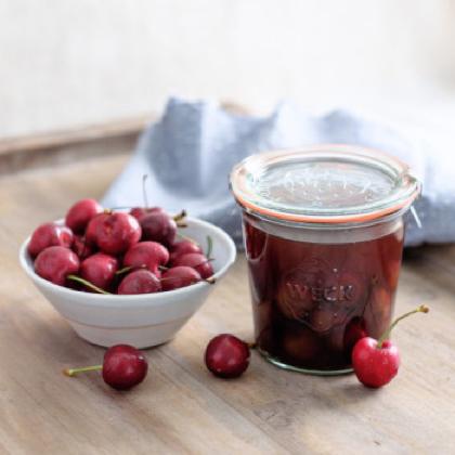 Emily Han's Cherry Bounce and Balsamic Shrub