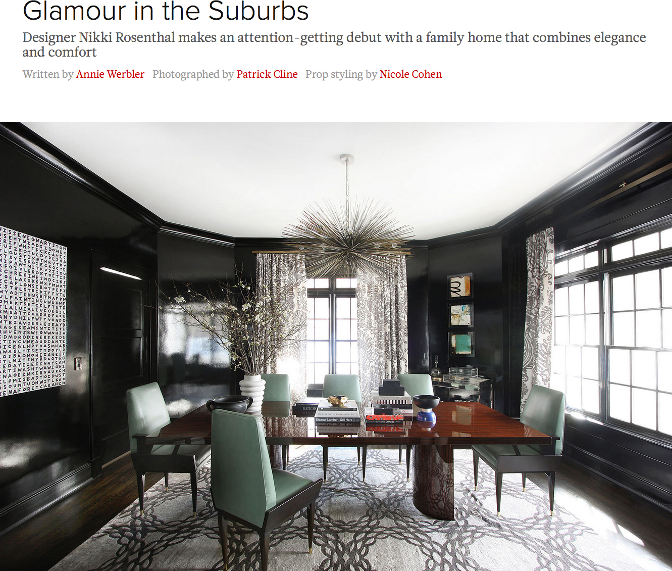 Glamour in the Suburbs