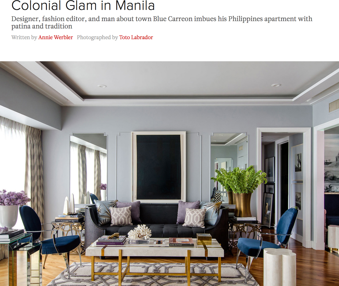 Colonial Glam in Manila