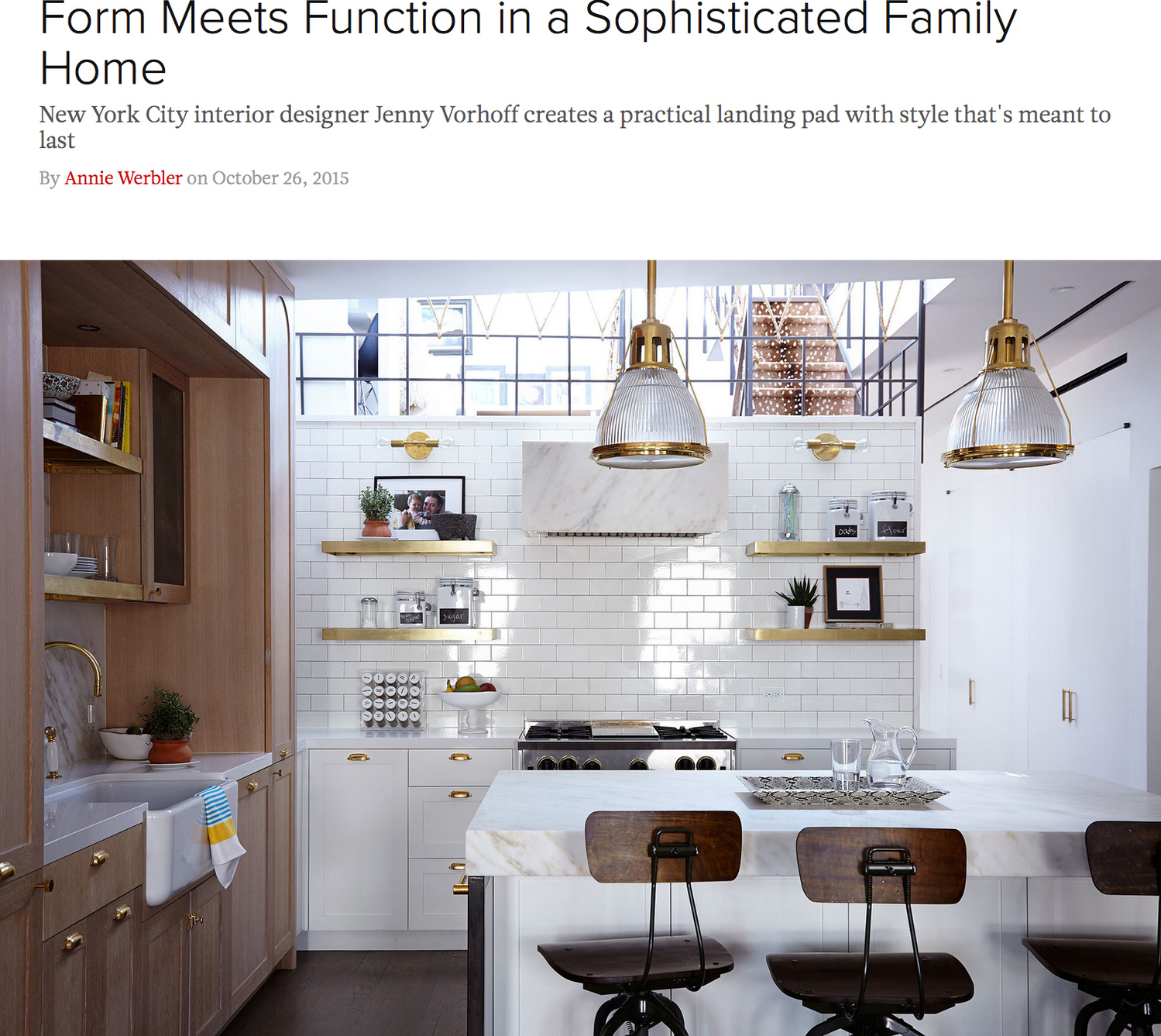 Form Meets Function in a Sophisticated Family Home
