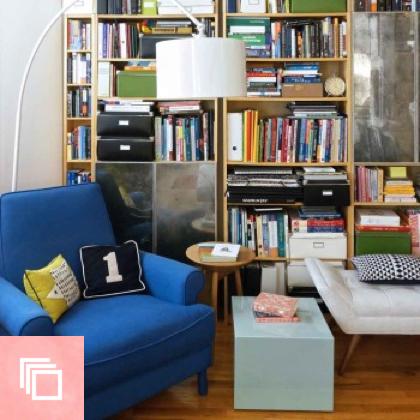 An Artful Home Above a Bookstore