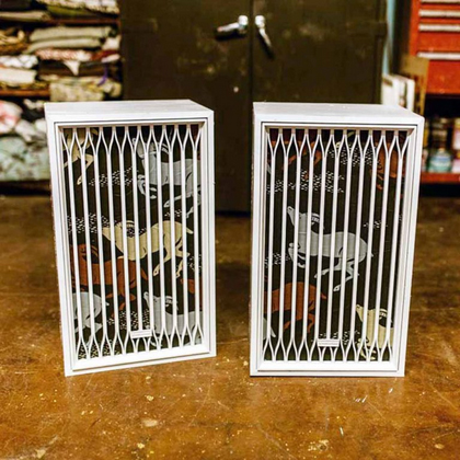 DIY Upcycled Vintage Upholstered Speakers