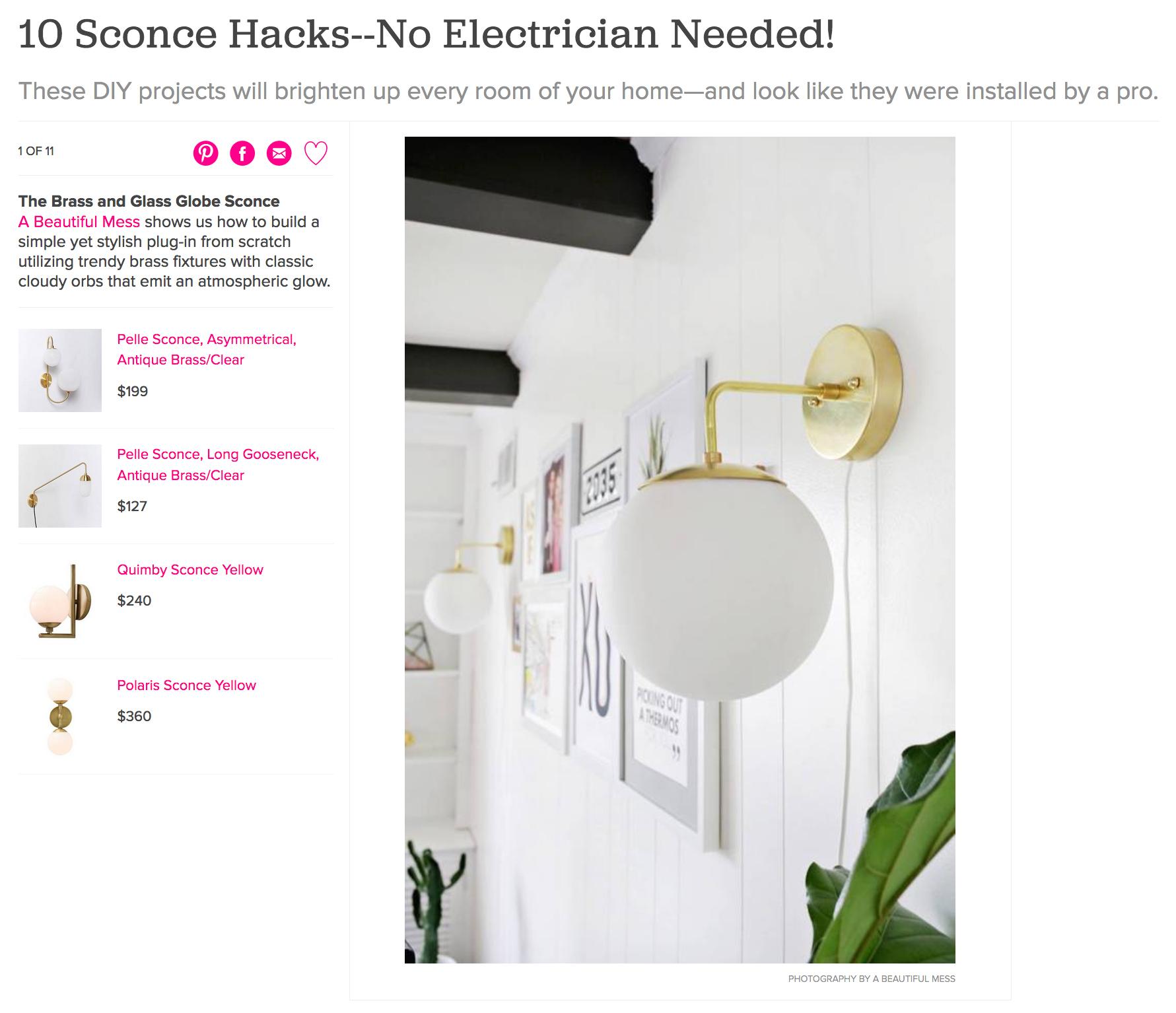 10 Sconce Hacks--No Electrician Needed!