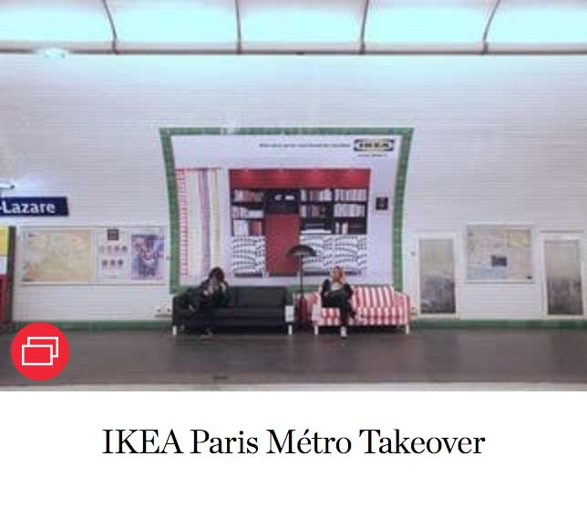 IKEA Paris Métro Takeover