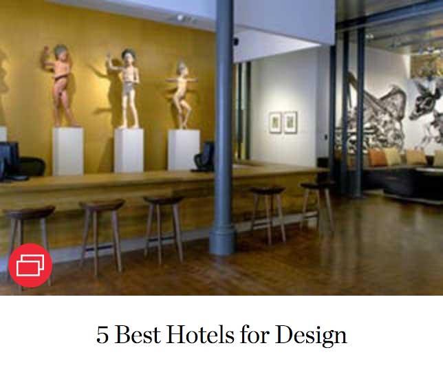 5 Best Hotels for Design