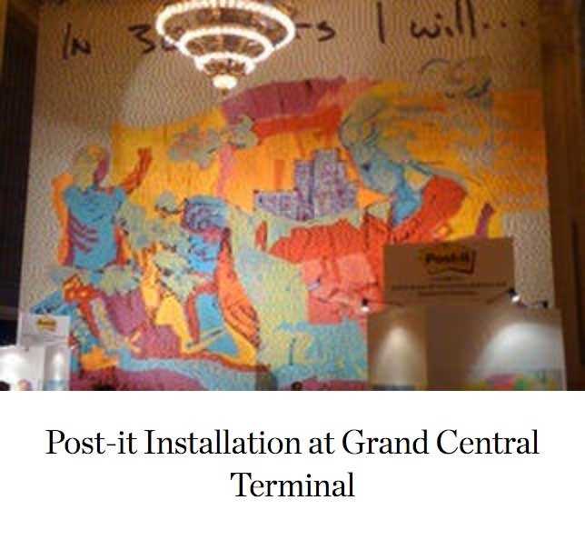 Post-it Installation at Grand Central Terminal