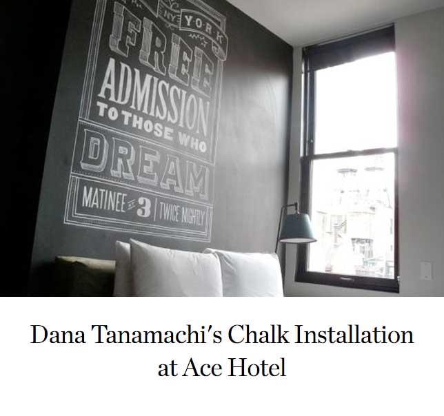 Dana Tanamachi's Chalk Installation at Ace Hotel