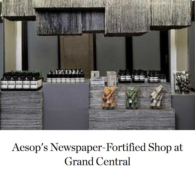 Aesop's Newspaper-Fortified Shop at Grand Central