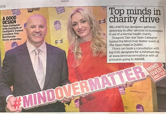 Delighted with the coverage Mind Over Matter is getting. Fair play to Sean Gallagher for getting behind and Mc'ing the business launch. . .  Want to get involved. Link in bio. #mindovermatter #idimindovermatter #dogood #headcase #creativemedia #marketingmadness #aware #mentalhealth #creativeCommunity @idi_ireland