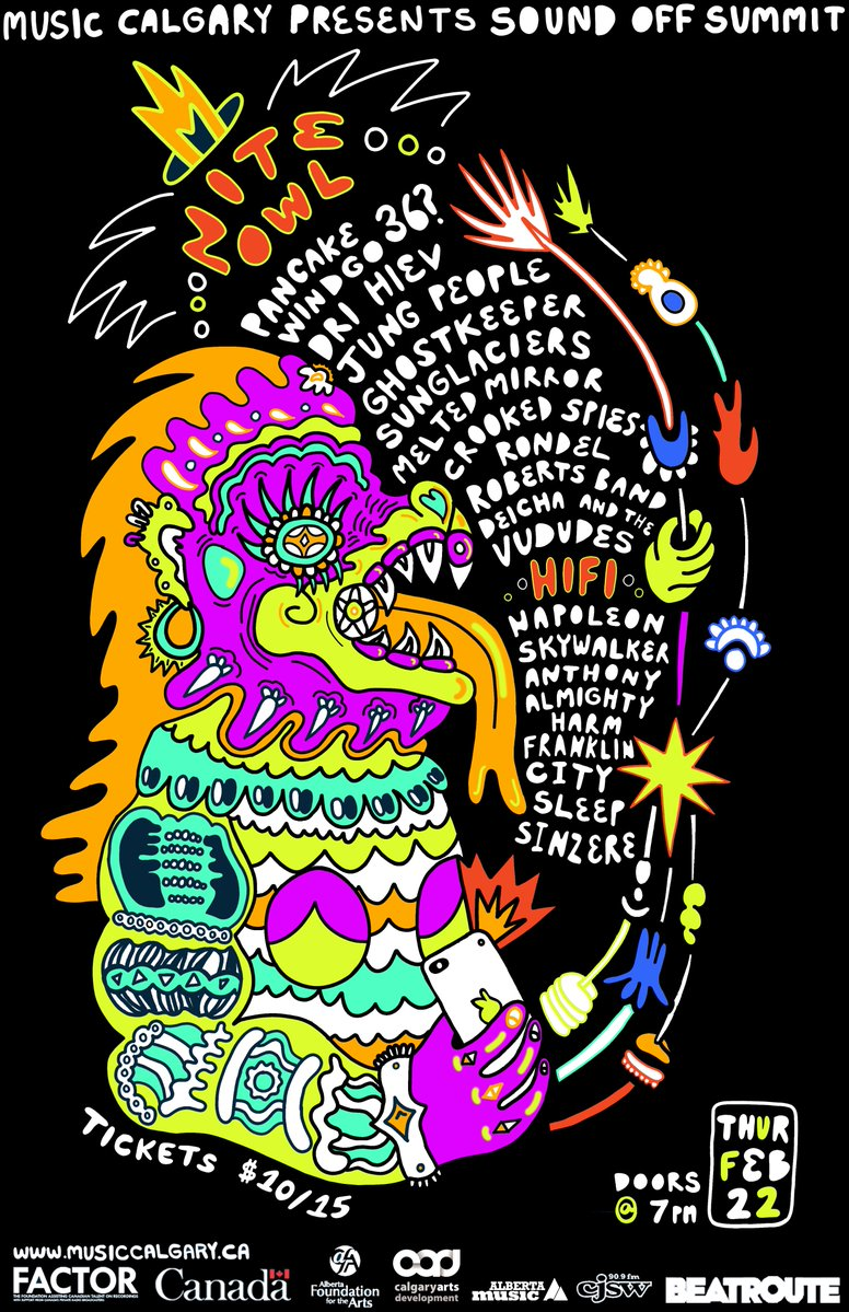 Thursday Feb 22nd SoundOff Summit @ Nite Owl w/36?, Windigo, Rondel Roberts + More -