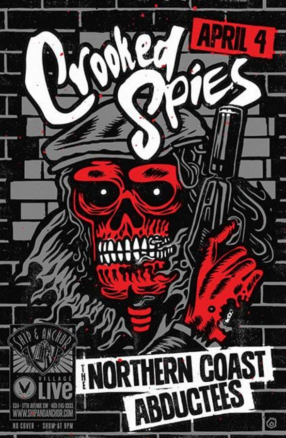 Wednesday April 4th @ Ship And Anchor Pub, Calgary, AB w/ The northern coast & abductees -
