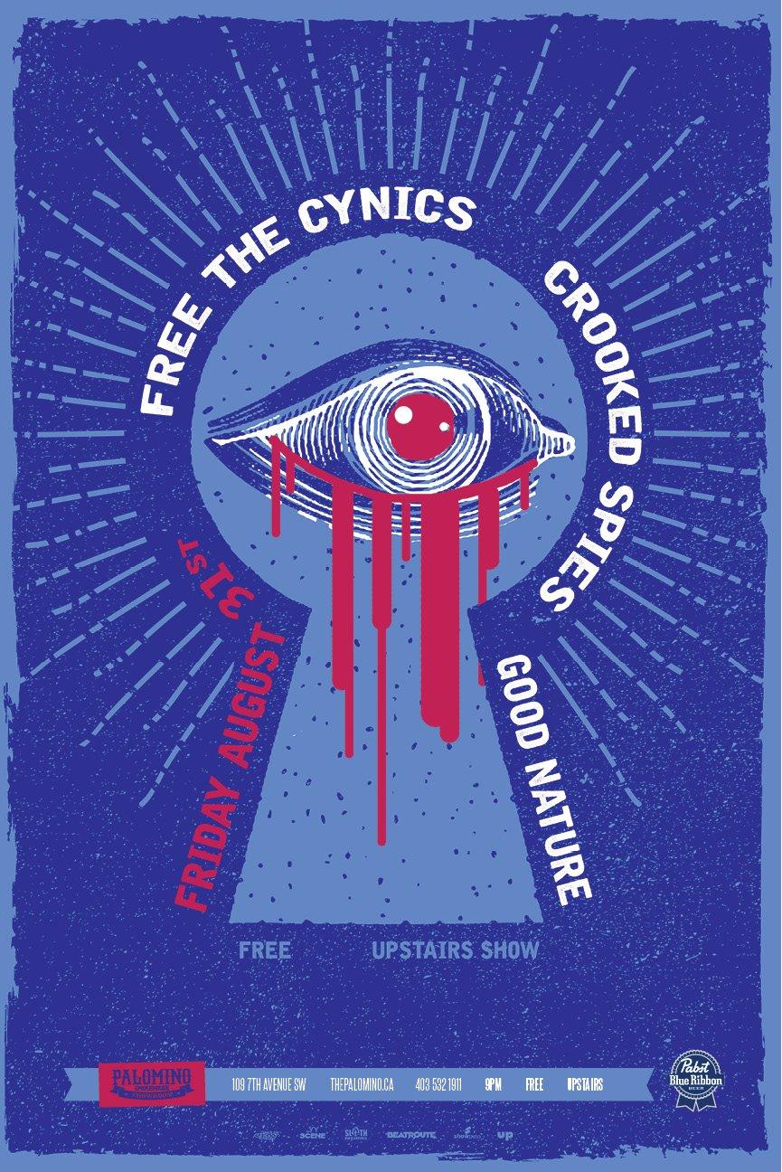 Friday, August 31st @ Palomino Smokehouse, Calgary, AB w/ Free the Cynics & Good Nature -