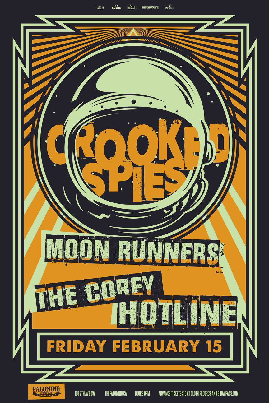 Friday, February 15th @ The Palomino w/ The Moon Runners & The Corey hotline -