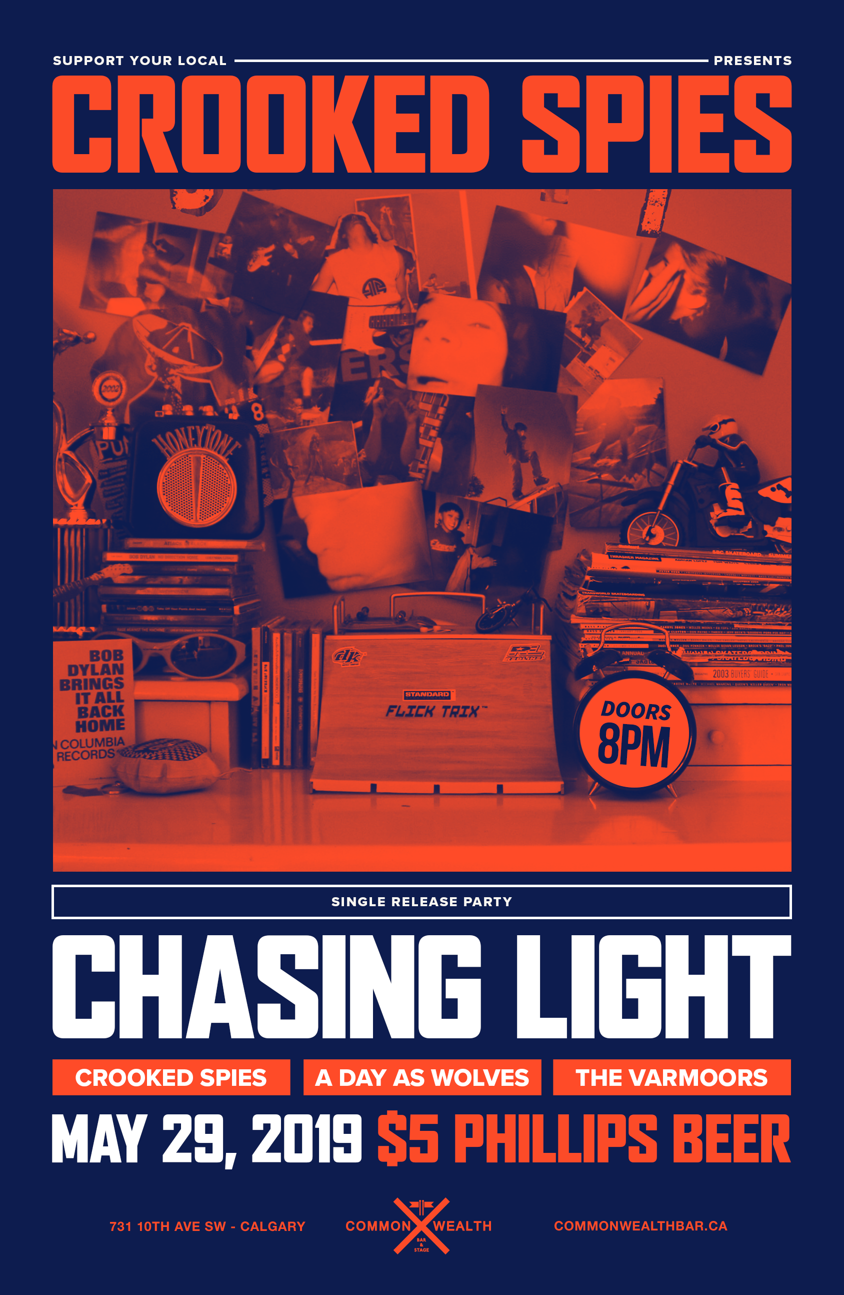 Wednesday, May 29th, Chasing Light Single Release @ Commonwealth Bar & Stage w/ A Day as Wolves & The Varmoors -
