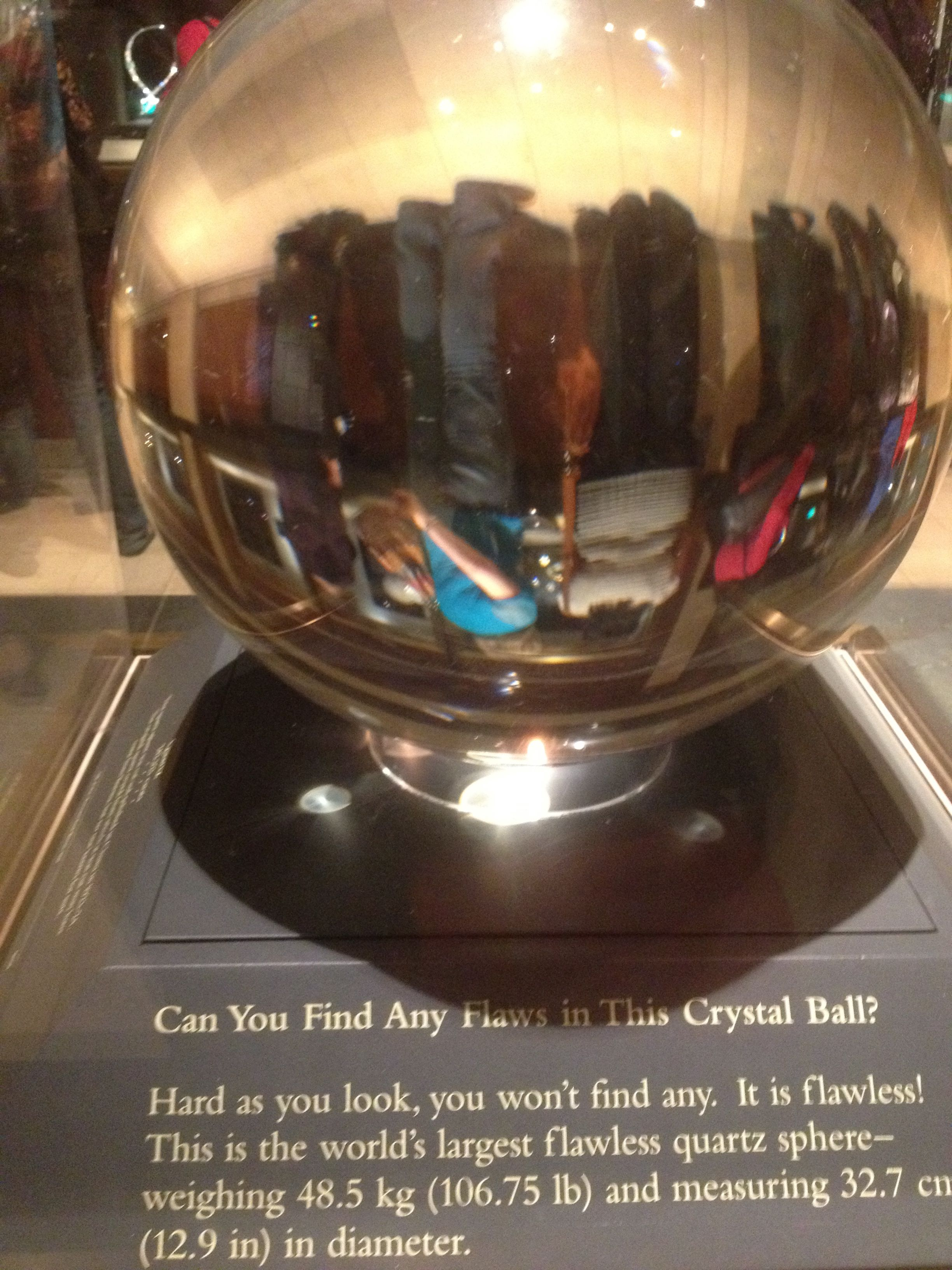 This clear crystal ball is phenomenal...flawless! This is very rare.