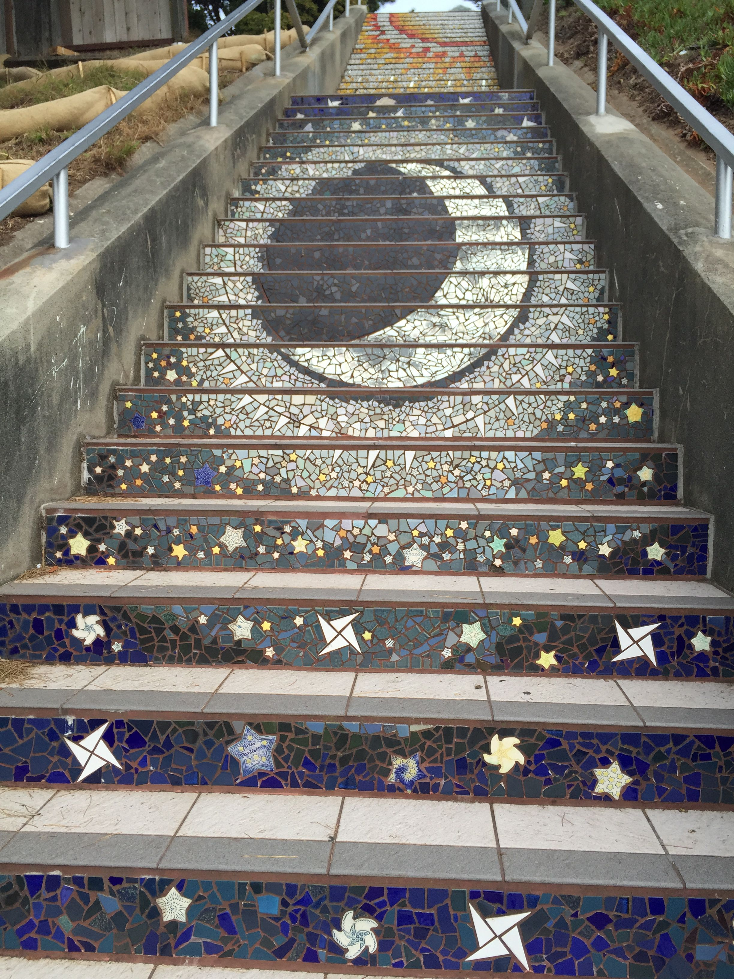 16th Street stairs in San Francisco, CA.