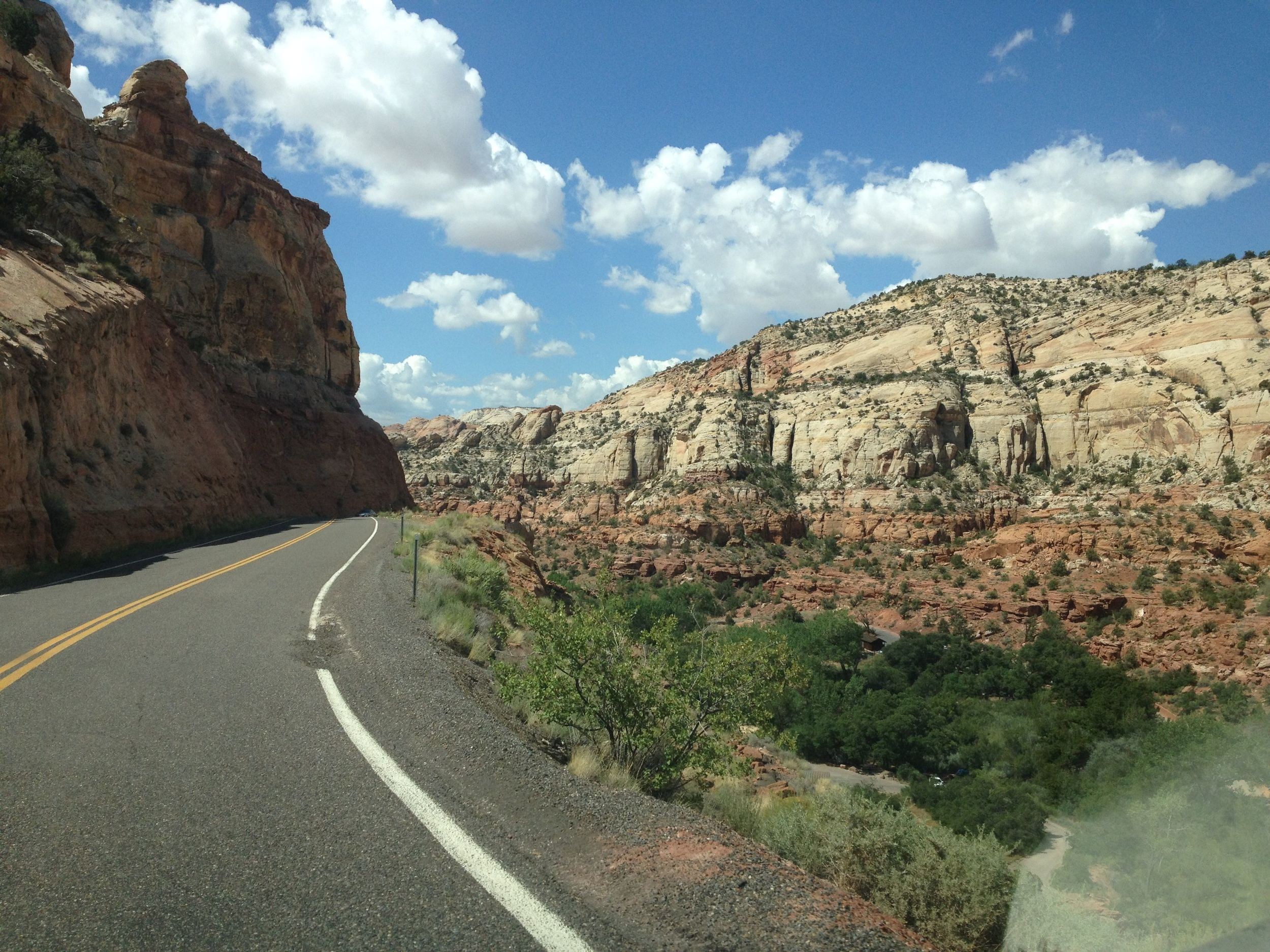-respite between shows. The road between Bryce Canyon and Escalante in Utah.