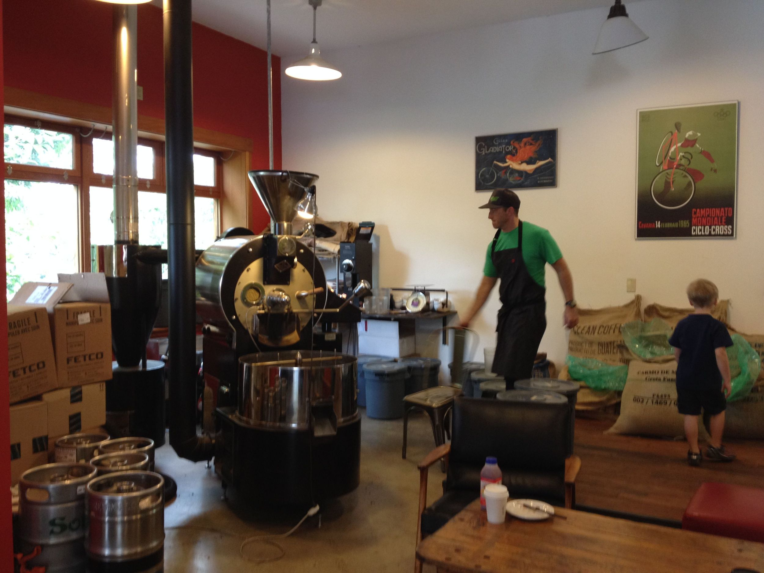 10 Speed Coffee Roasters in Mount Hood, Washington.