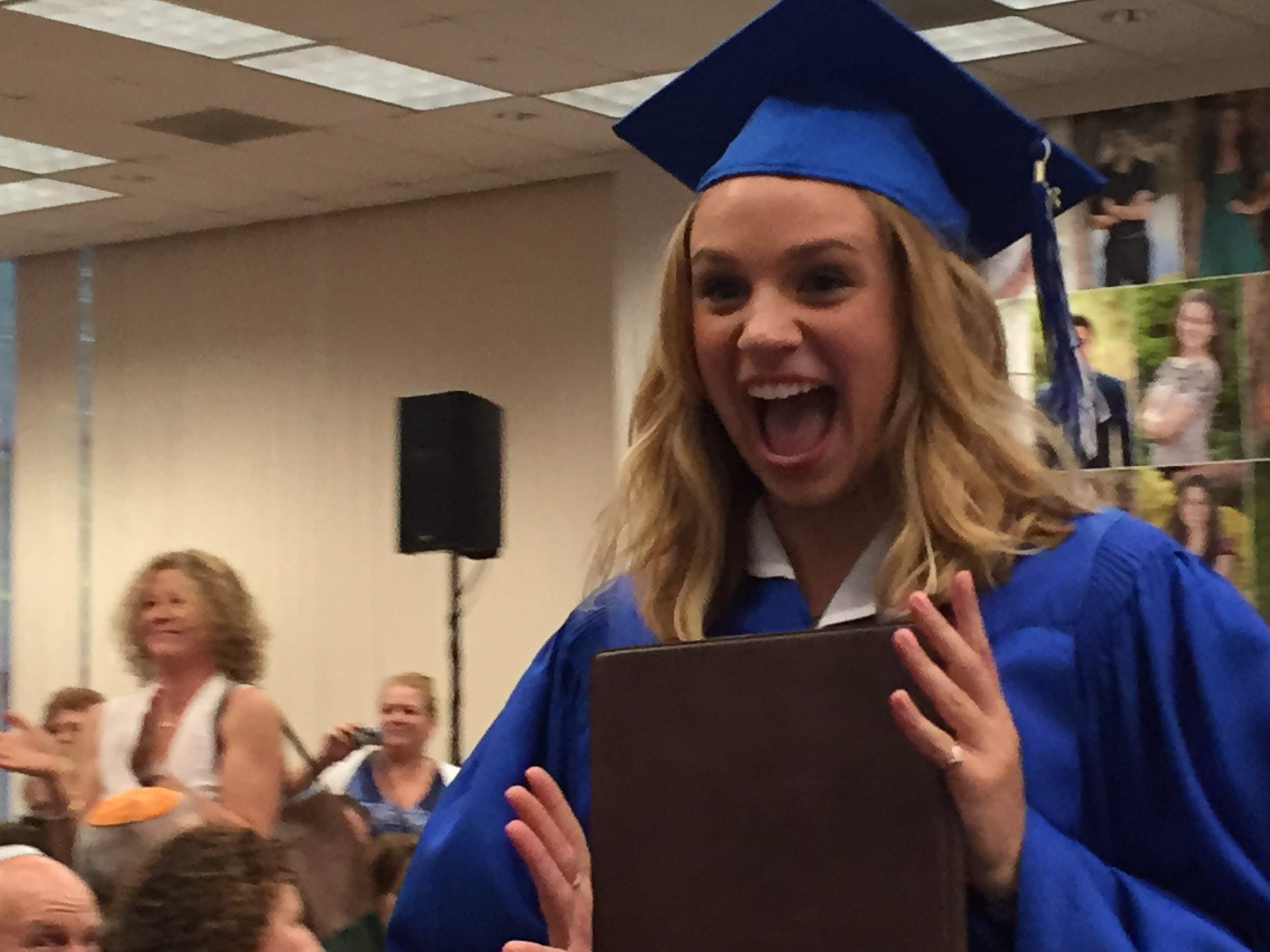 Neice ilana upon receiving her high school diploma, getting ready to fly the coop.