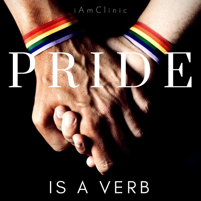 #newBlog for #pride . Coming out meant internalizing and demonstrating LGBTQ+ self-acceptance as though Pride were a verb, an action: To Pride energetically. To Pride myself. To Pride openly. To Pride vivaciously, from the inside out. I totally resigned to coming out as a person of Pride when I fell in love with who I am. . Walking through the booths, streets, bars, and parades at Pride celebrations are no longer events I simply window shop. I am proud to be myself. Pride is not only a thing to attend, it is a way of being. So in this light, I wish you a happy Pride! . #linkinbio . #pride #lgbtqtherapy #gaytherapy #gaycouples #lgbtq #lgbt #faithfullylgbt #trans #lesbian #gay #queer #gaypride #couplescounseling #gaycouplescounseling #iAmClinic