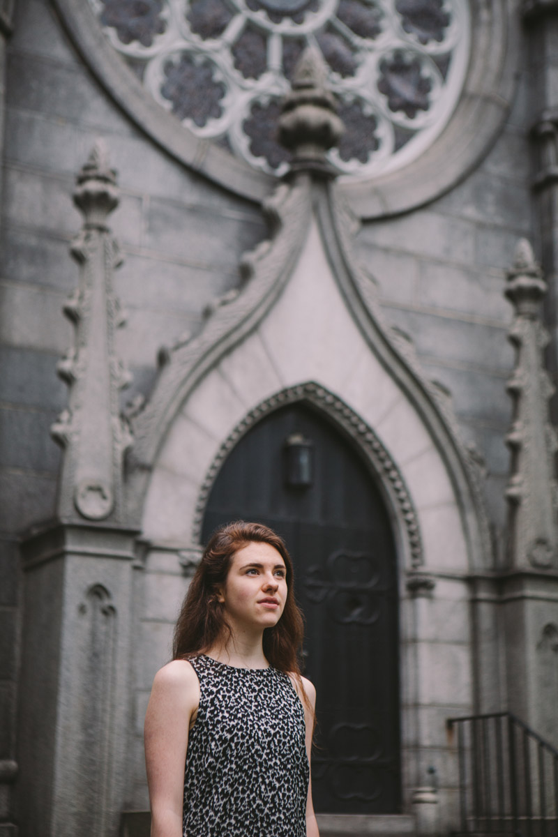 When this rad chick wanted senior photos in a cemetery.