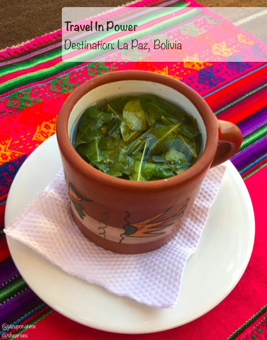 """Traditional  """"Mate de Coca"""" tea served in Bolivia. This tea is a traditional remedy tea used for just about anything; stomach aches, altitude sickness, head aches and even as a weight-loss supplement."""
