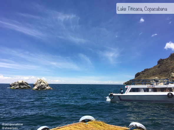 Four  hours away from La Paz, Bolivia you can find the famous lake Titicaca. This lake is known for having its small islands of indigenous locals hosting many visitors. It isn't unusual to take a 20 minuet boat ride driven by a 10 year old to an Island of glorious views and sweet locals.