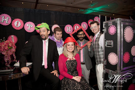 Snyder Entertainment Team With The Photo Booth. Picture Courtesy of David Wright