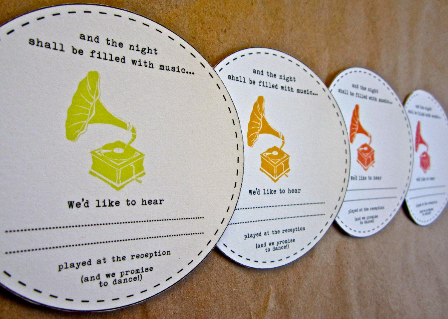 This is one of the latest trends in wedding invitations…asking for requests