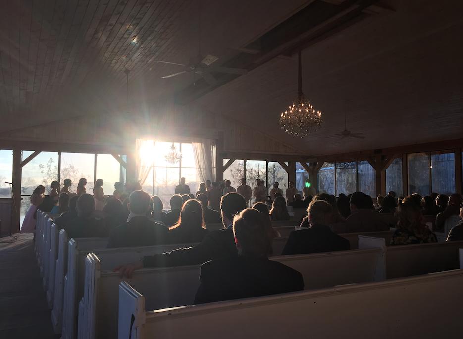 Mint Springs Farm ceremony pavilion.