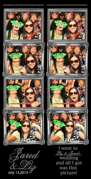 This is an example of our photo booth strip print out.