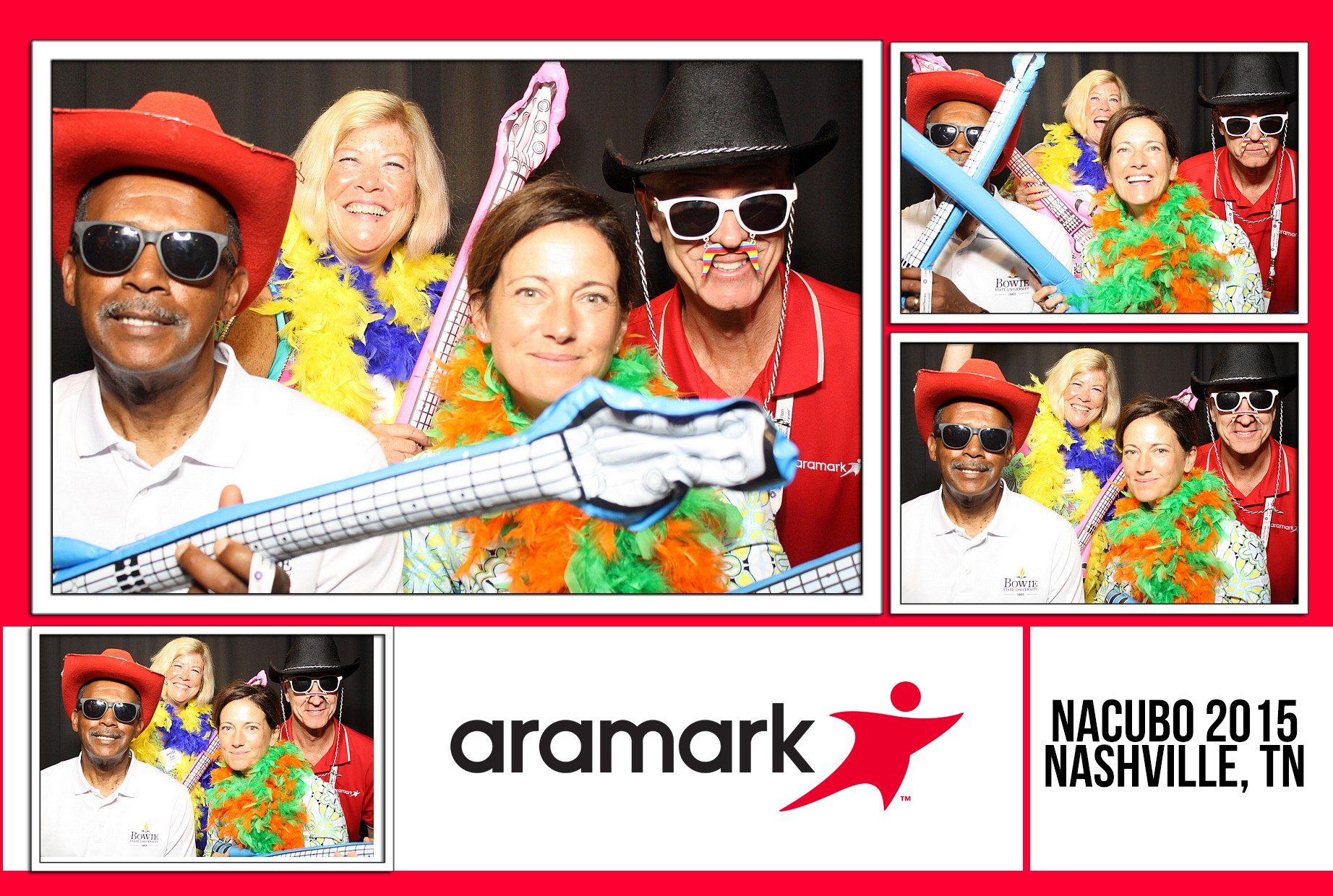 We recently did an event for Aramark at LP Field! Our photo booths and live band were the perfect additions to add a bit of fun to their event!