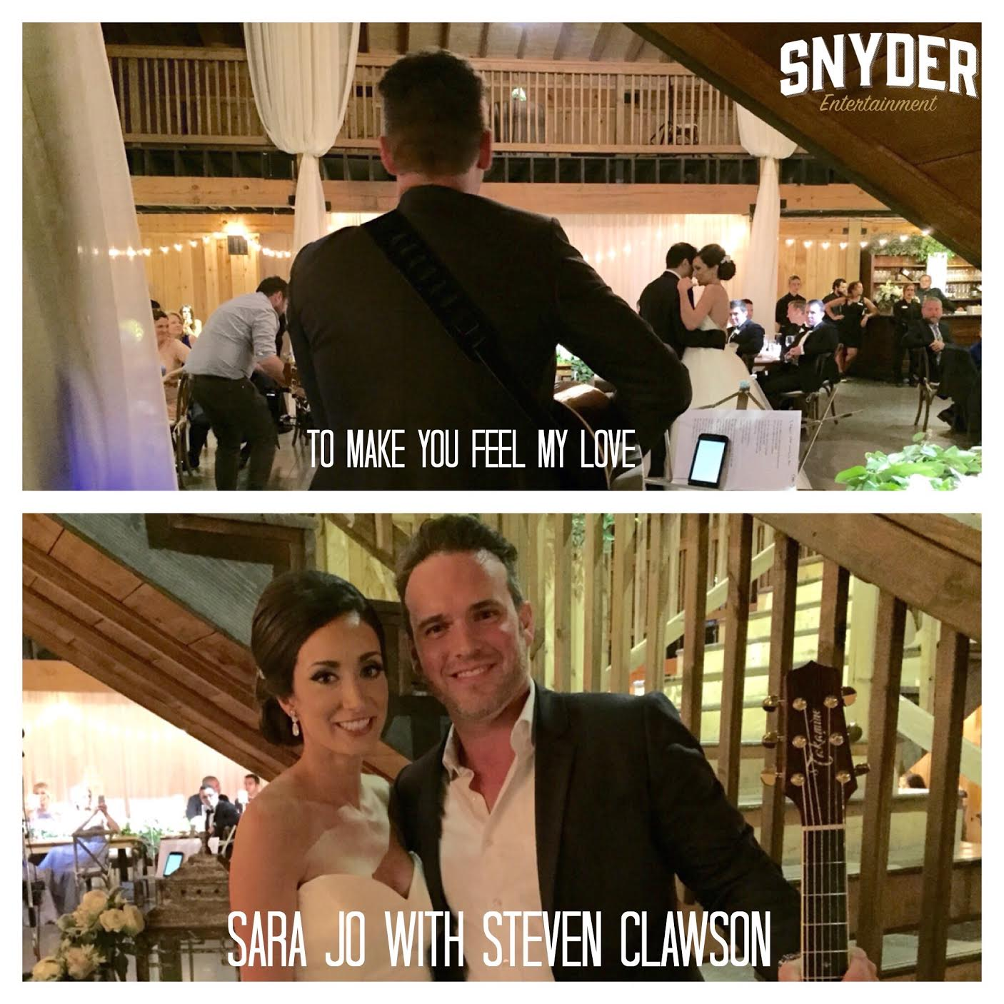 Steven with one of our brides, Sara Jo, at her Mint Springs Farm wedding.