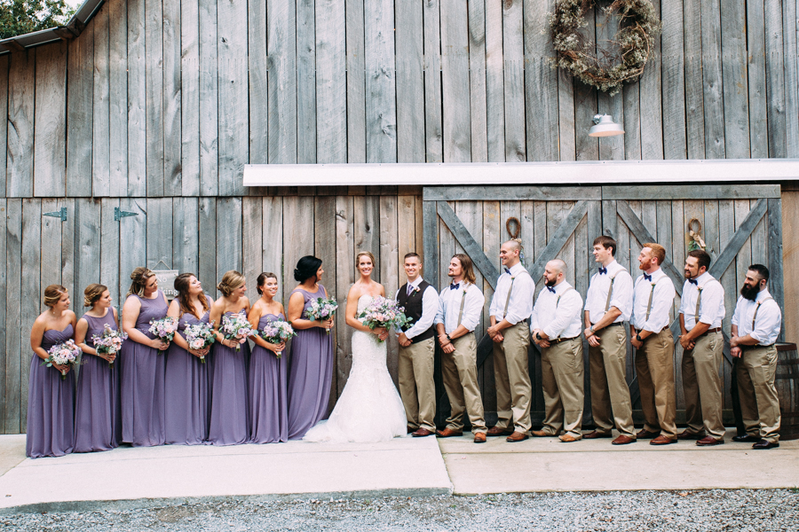 One of the finest bridal parties you ever did see!