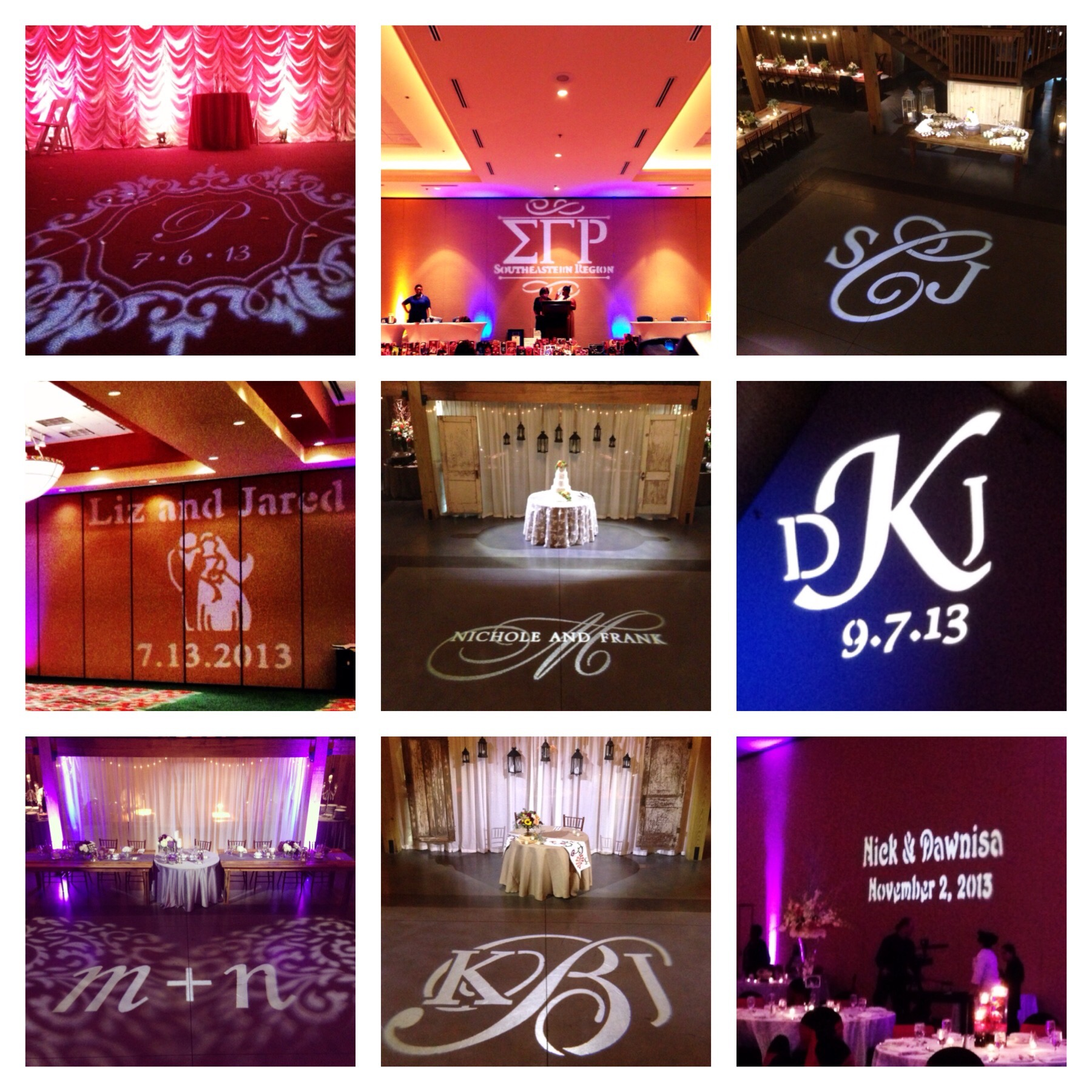 Lighting Accents and Floor Monograms