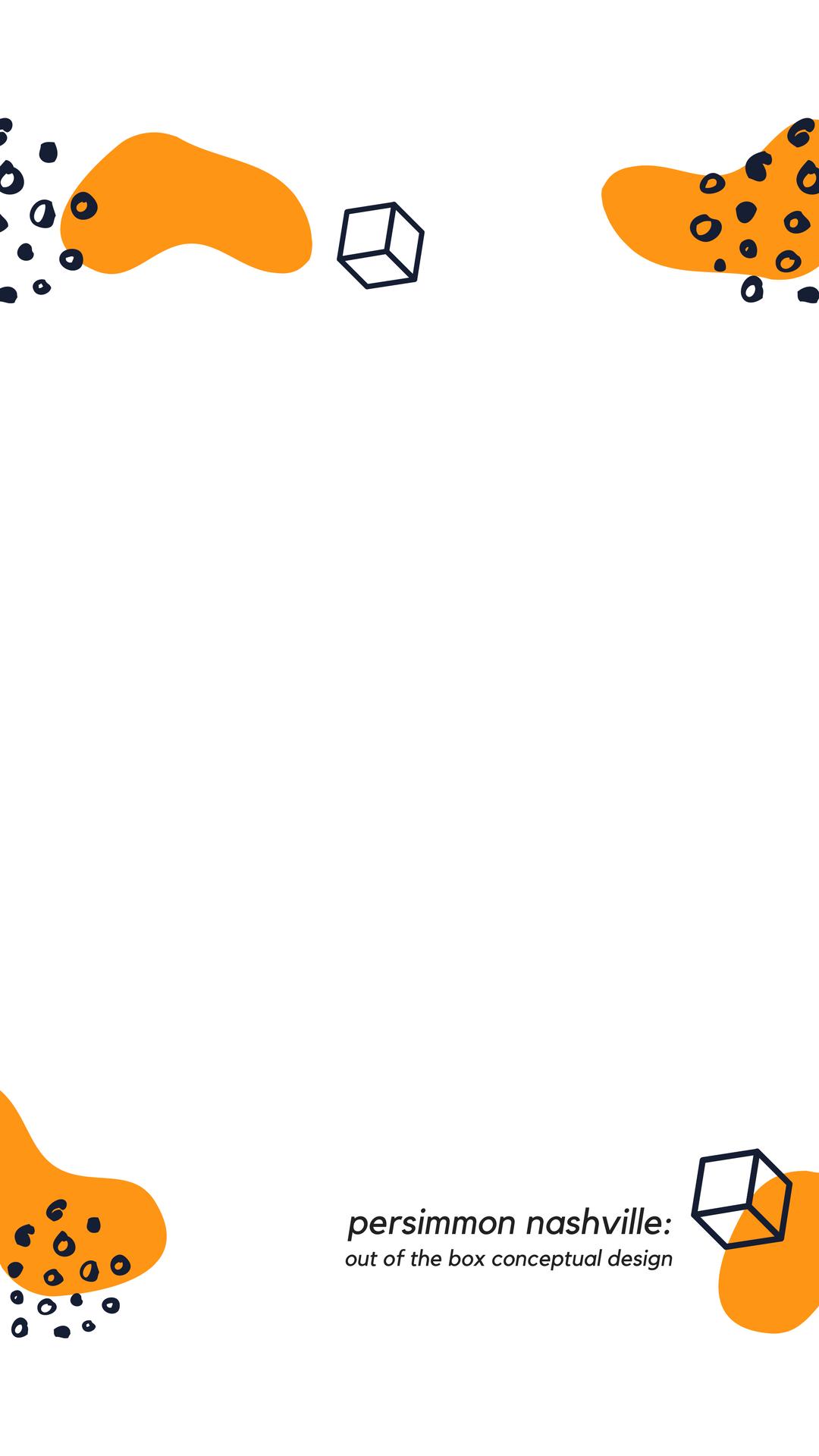Black and Orange Shapes Snapchat Filter.png