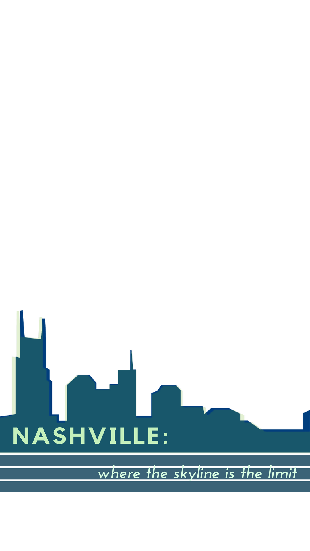 Dark Green Cityscape Conference Snapchat Filter.png