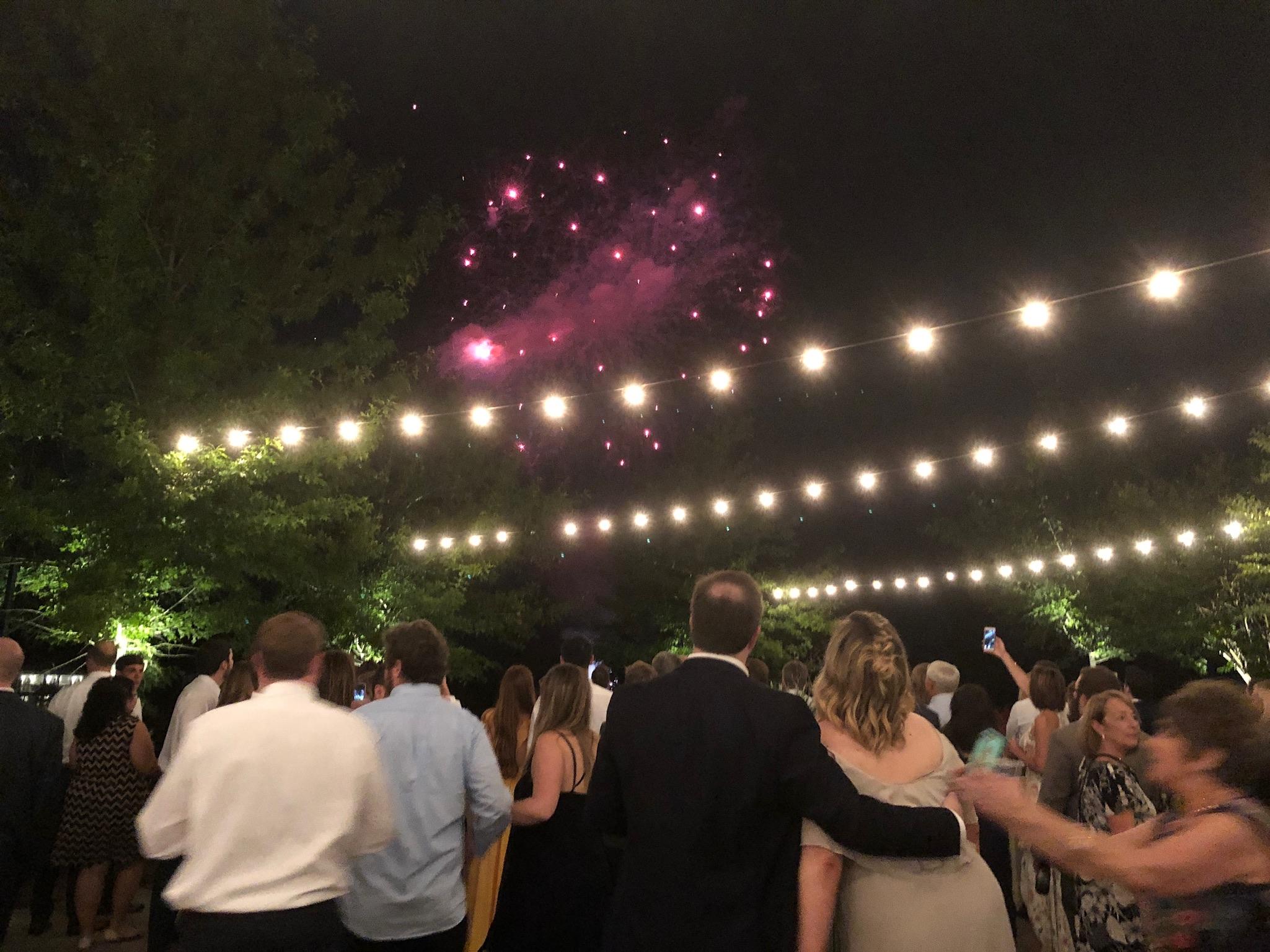 fireworks - venue: Mint Springs Farm