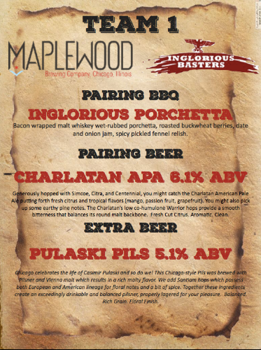Maplewood Brewery and John Arena Inglorious Basters