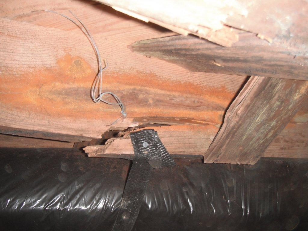 Broken floor joist