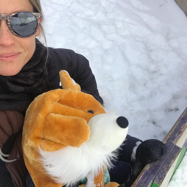 Just a mama and baby fox :) how adorable is this hat? Peaceful morning hiking the trails in a wonderful 17 degrees. Here's my old mama tips for taking your little exploring 1. Keep the core warm -a onesie is a must 2. Warm bib overalls 3. Sweater over the onesie under the bins 4. Waterproof mittens w extended cuffs 5. Super warm jacket 6. Thin long socks under real winter boots not the kiddie fun ones 7. Cotton snug hat under another warm one 8. And top it off with best @7eleven purchase ever -the Fox hat ! Bought in #newsmyrnabeach, of all places ! #winterplay