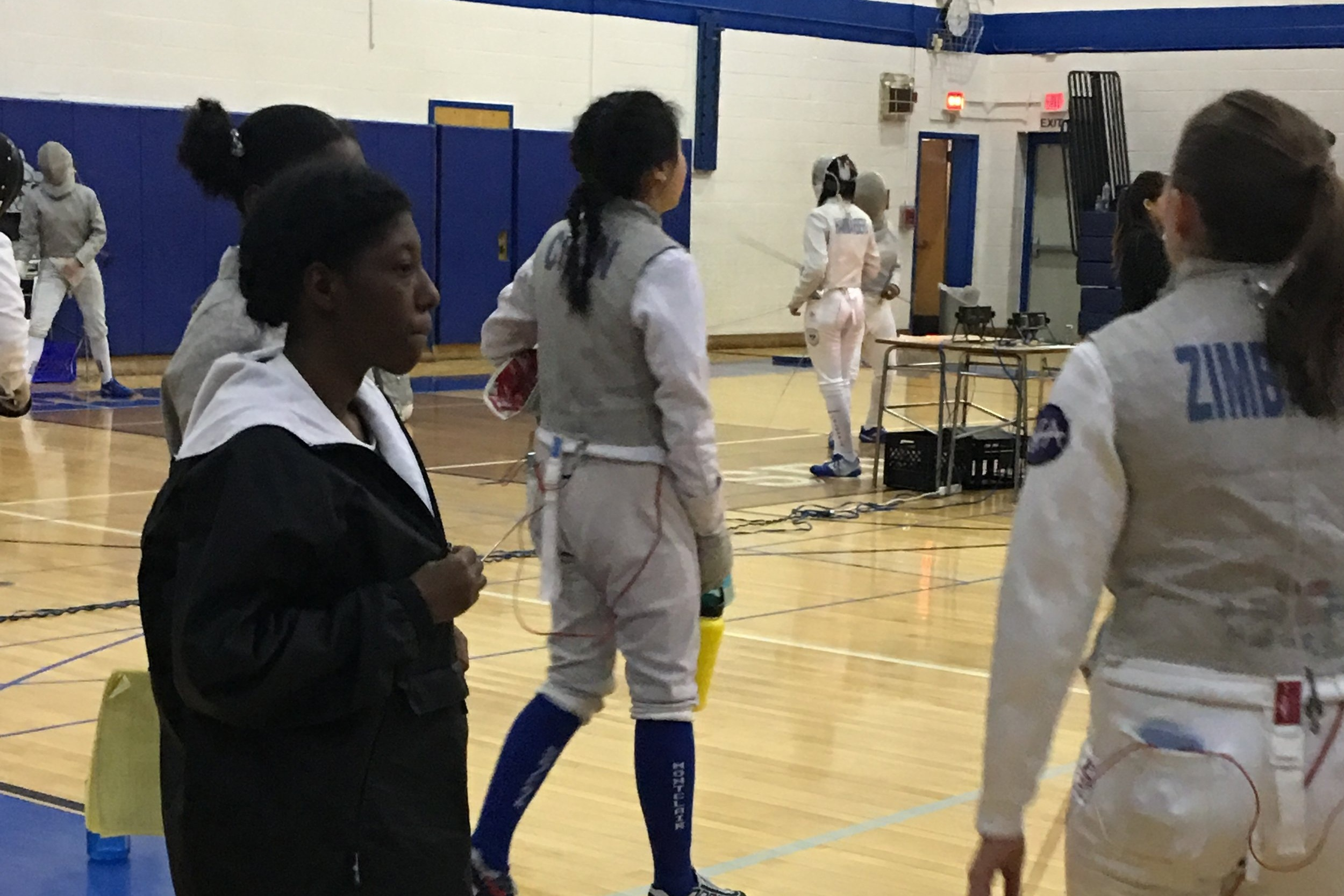 Foil Girls — District 5 @ MHS 27 Jan 2019