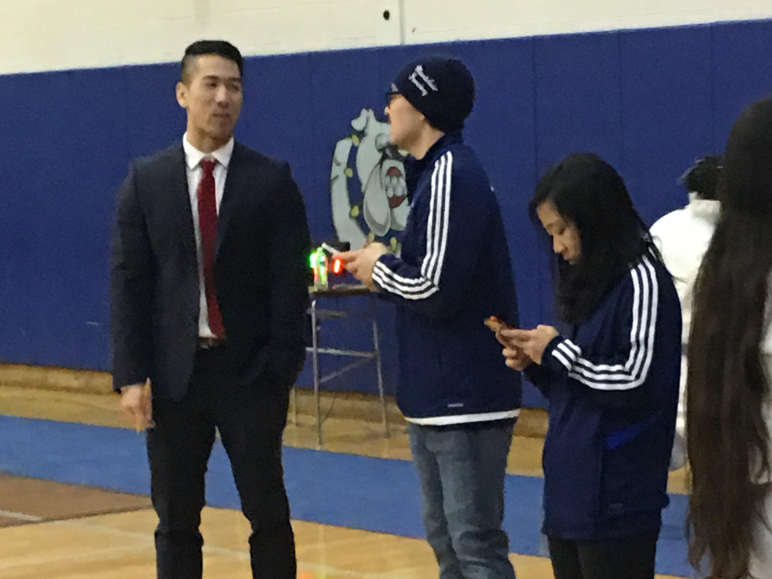 Coach Chang and Coach Ya — District 5 @ MHS 27 Jan 2019