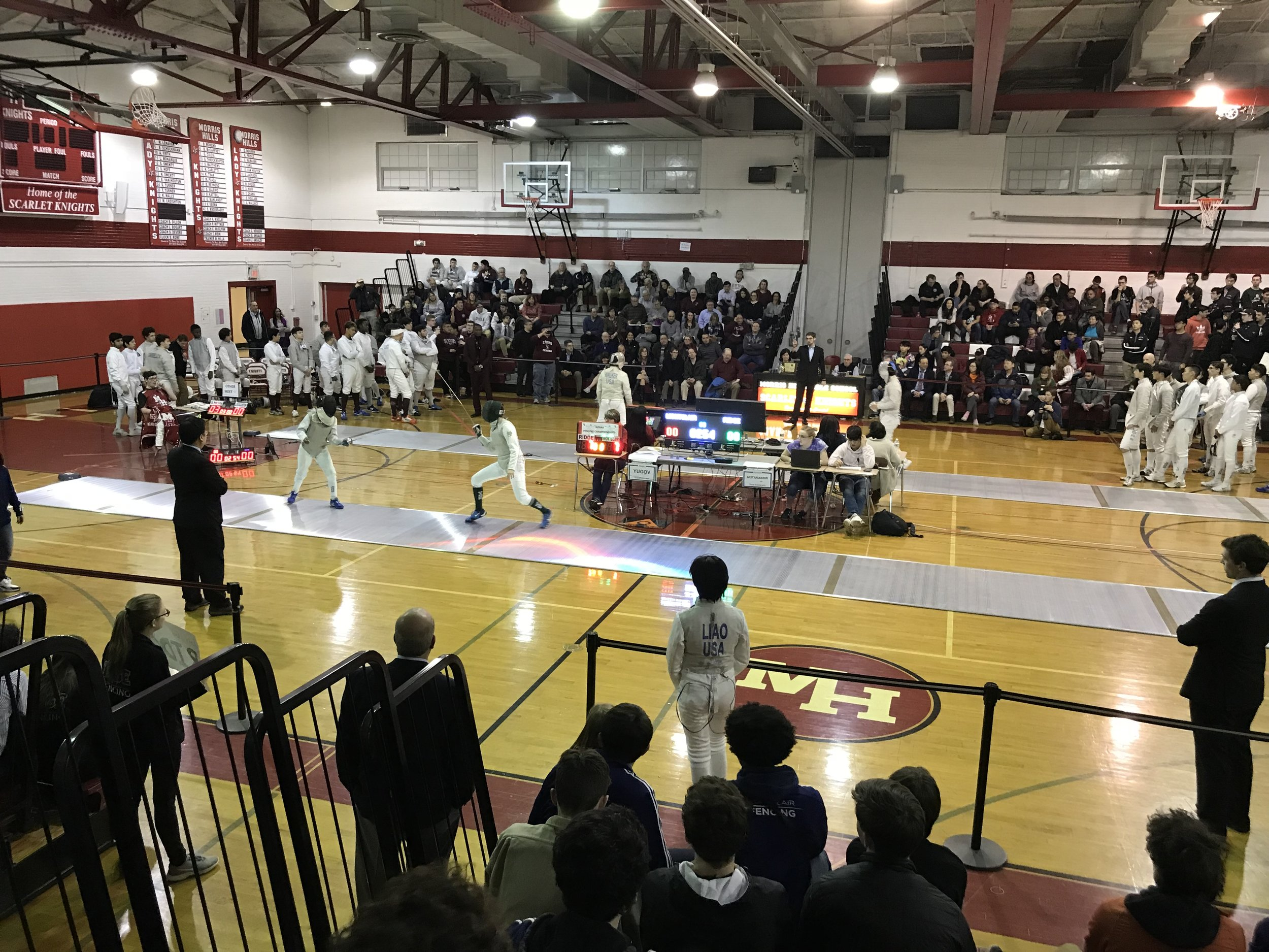 Girls team championship vs. Ridge @ Morris Hills, 26 Feb 2019