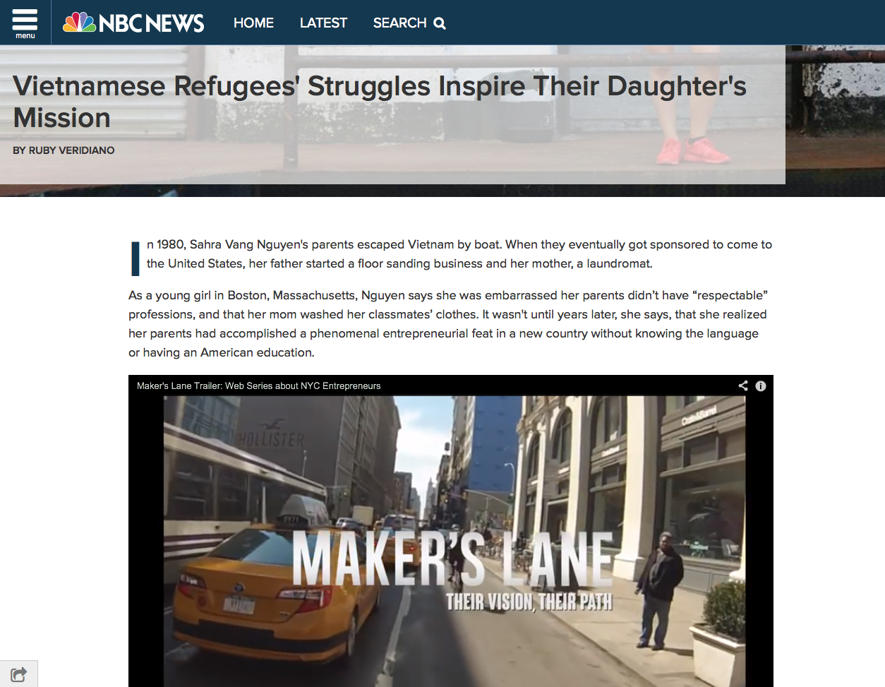Click the image to continue reading about Sahra Vang's feature on NBCNews.com