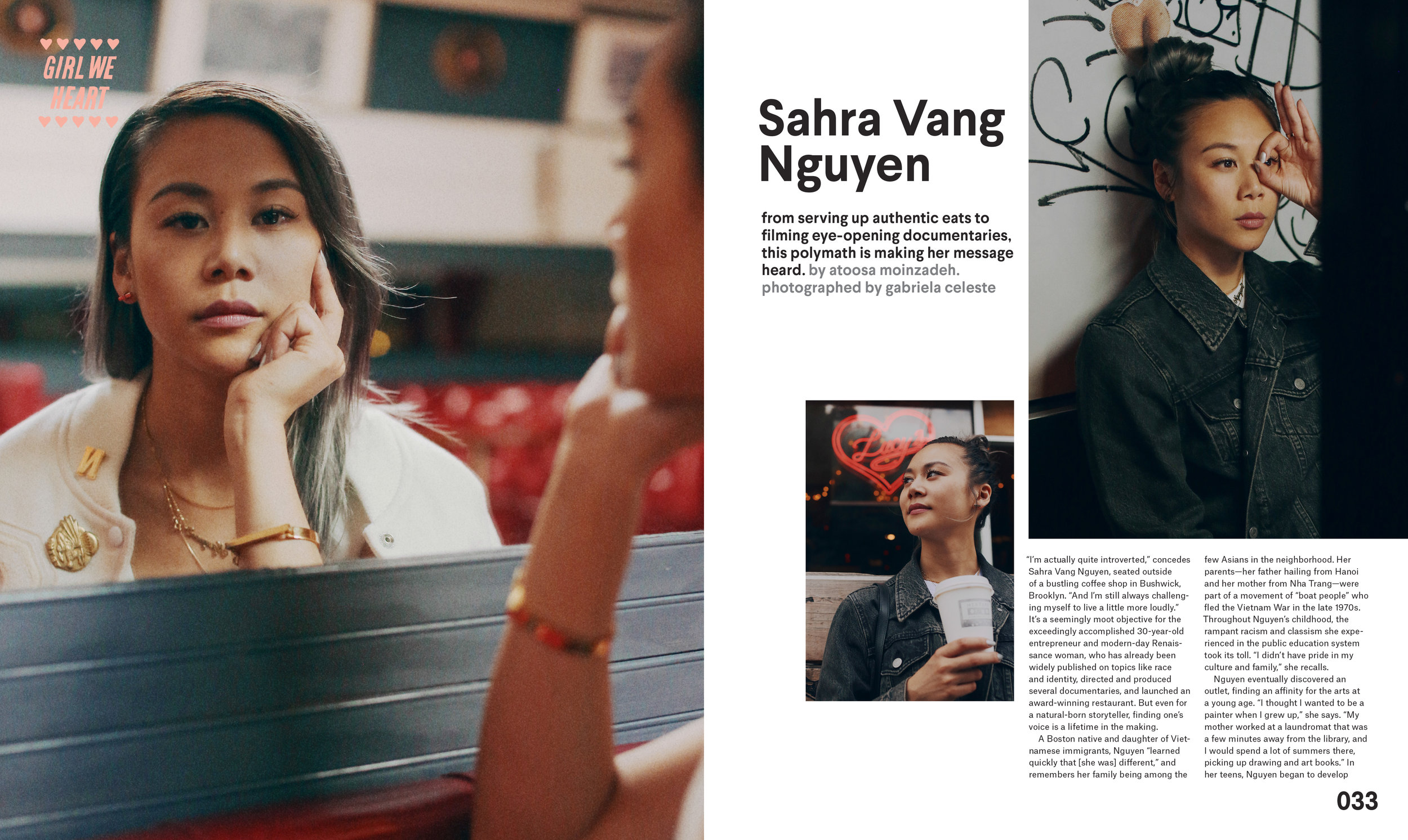 sahra vang nguyen nylon magazine spread