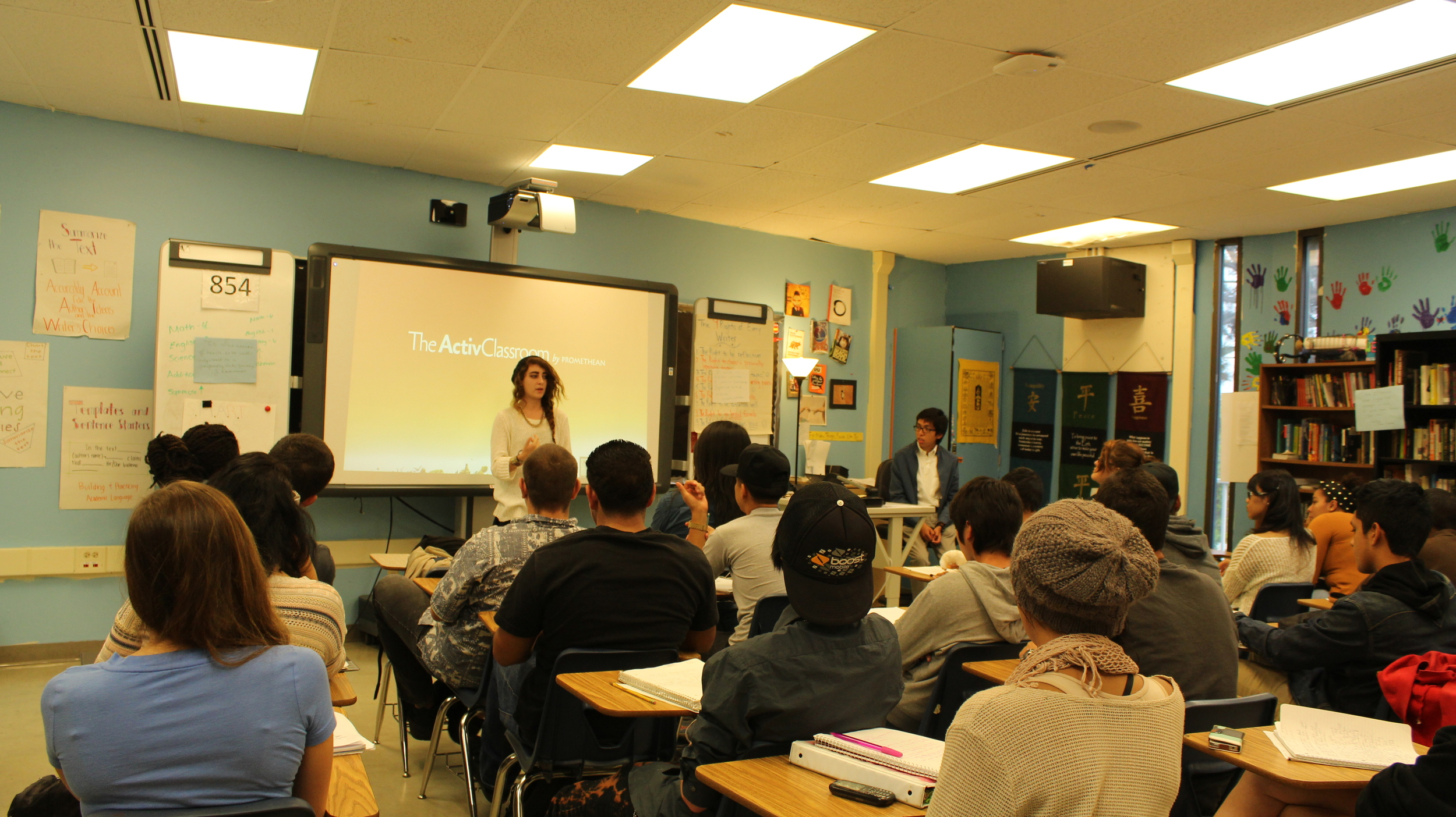 Glassless Minds Youth team member Sophia Sandoval shares a poem for 11th grade English class a Point Loma High